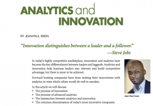 Analytics and Innovation, by Jean-Paul Isson